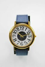 Scottsdale Polo Watch Unisex Stainless Steel Gold Leather Blue White Quartz