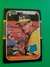 1987 Donruss Terry Steinbach Rated Rookie Card #34..Oakland Athletics