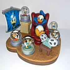 "Disney Multi Snow Globe ""Through the Years"" Donald Duck Rare #22296 Figurine"