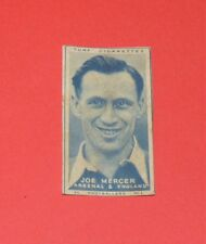 CIGARETTES CARD CARRERAS TURF FOOTBALLERS 1948 N°1 JOE MERCER ARSENAL GUNNERS