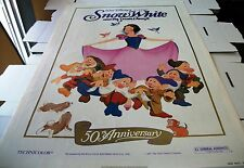 SNOW WHITE AND THE 7 DWARFS RERELEASED  ROLLED POSTER ONE SHEET - 27 X 41 - 1987
