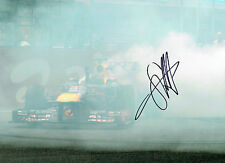 Sebastian VETTEL SIGNED Red Bull Formula 1 World Champion 16x12 Photo AFTAL COA
