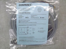 Contrinex DW-LD-702-M12 Embeddable Inductive 6mm Proximity Sensor 10-30Vdc New