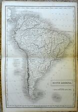 Antique print MAP engraving - 1842 - SOUTH AMERICA