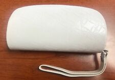 Authentic Oakley White Soft Zippered Sunglasses Case W/Wrist Strap - NEW! WoW!!!