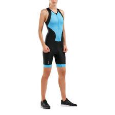 2XU женские выполнять молния спереди trisuit черный синий спортивный для троеборья дышащие