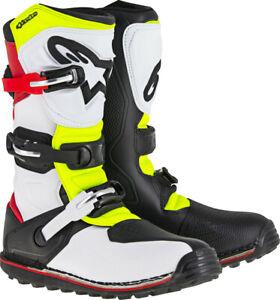 Alpinestars Tech T Boots 8 White/Red/Yellow/Black 2004017-2351-8
