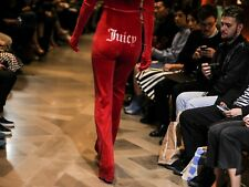 Authentic Vetements Juicy Couture Red Tracksuit Bottoms XS Rihanna Kylie Jenner
