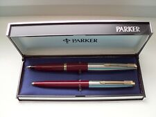 "PARKER ""45 ""  STANDARD DE LUXE SET;14 Kt.GOLDNIB ! in ORIG.BOX !MADE IN SPAIN"
