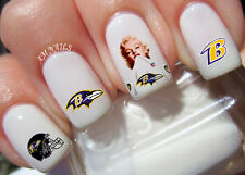 Baltimore Ravens Nail Art Stickers Transfers Decals Set of 40