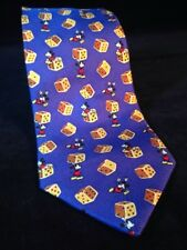 Mickey Mouse TUMBLING DICE Neck Tie © Disney - Blue , Yellow Dice, CITIME Silk