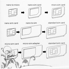 Nano SIM Card to Micro Standard Adapter Adaptor Converter Set For iPhone 5/4S/4