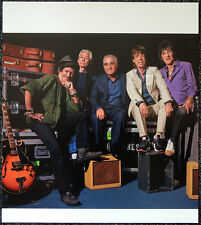 THE ROLLING STONES POSTER PAGE GROUP PORTRAIT WITH MARTIN SCORSESE . Y125