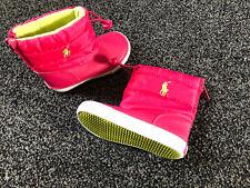 Infants Girls RALPH LAUREN Polo Padded Waterproof Boots Pink UK 5-5 Used
