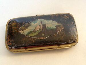 19th Century German Leather Cigar Case