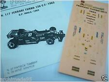 FERRARI 126 C2 TURBO 1983 GP IMOLA N.27-28 DECALS 1/43
