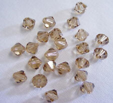 25 Swarovski Beads # 5328 Lt. Colorado Topaz  6MM