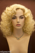 Blonde Long Medium Curly Skin Top Wigs