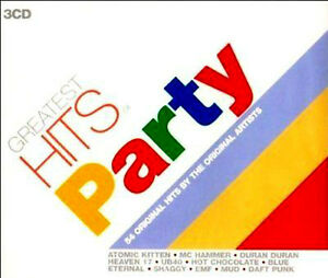 GREATEST HITS PARTY 3CD Mud,Blondie,Specials,Hollies,Heaven 17,UB40,Wizzard +