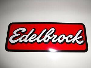 """AUTOMOTIVE / RACING DECAL   """"EDELBROCK """"   9 """" x  3.5 """""""