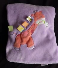 Taggies Purple Pink Giraffe Baby Blanket Fleece