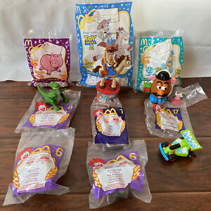 TOY STORY 2 McDonalds Toy Lot - Candy Dispenser - Woody RC Hamm Rex Potato Head