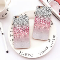 Phone Case Cover For Samsung iPhone Dynamic Hearts Glitter Clear Soft TPU