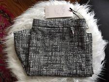 NWT Lila Rose High Waist Black & White Print Stretch Knit Shorts 2 Pocket Zipper