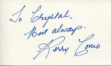 PERRY COMO SINGER POP MUSIC VOCALIST TV PERSONALITY SIGNED CARD AUTOGRAPH