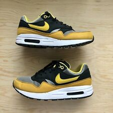 NIKE AIR MAX 1 (GS) YOUTH BLACK YELLOW GREY 807602 007 US YOUTH SIZE 6Y