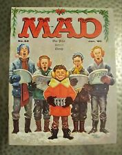 Vintage Mad Magazine #52, Jan.1960, Kelly Freas Christmas Carol Cover, VF+/NM-