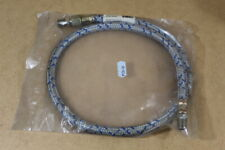 "Braided flexible fuel oil line 3/8""x24"""