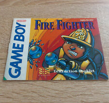 Nintendo Gameboy (GB) // Fire Fighter - Anleitung/Instructions // PAL