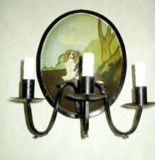 VINTAGE WROUGHT IRON 3 CANDLE SCONCE