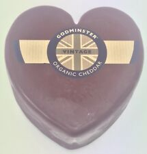 Certified Organic Godminster Heart Vintage Cheddar Cheese 400g Not Black Bomber