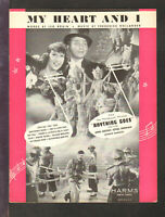 Anything Goes 1935 MY HEART AND I Merman/CROSBY Movie Sheet Music