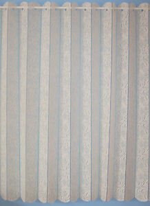 LOUVRE BLIND STYLE LACE CURTAINS- VALENCIA - CHEAP -GREAT VALUE / QUALITY -CREAM