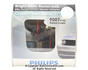 NEW Philips 9007 Crystal Vision Ultra 2-Pack 9007CVS2 Bulb
