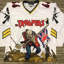 Custom Iron Maiden Eddie Hockey Jersey 666 The Beast 2XL White