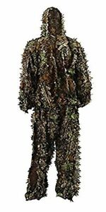 Zicac Outdoor Camo Ghillie Suit 3D Leafy Camouflage Clothing Jungle Woodland Hun