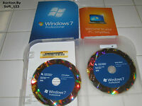 Microsoft Windows 7 Professional Full Retail Version 32 bit & 64 bit MS WIN PRO