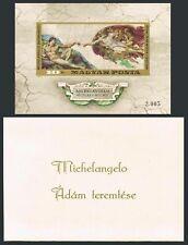 Hungary 2362 imperf,MNH.Michel Bl.110B. Creation of Adam,Michelangelo Buonarroti