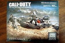 MEGA BLOKS 06815 CALL OF DUTY RIB BEACH ASSAULT NAVY SEAL ZODIAC SEALED RETIRED
