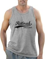 Retired Since 2020 - Retirement Gift Idea Men's Tank Top Funny