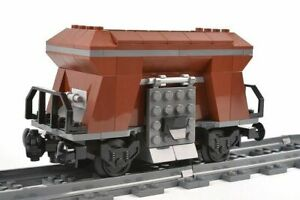 Custom city train hopper wagon brown carriage made using LEGO parts 60098