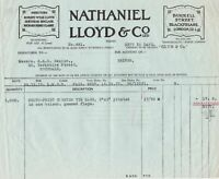 Nathaniel Lloyd & Co Ltd London 1933 Counter Tie Bags Paid Receipt Ref 39613