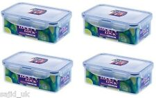 4x Lock And & Lock de almacenamiento de alimentos recipiente Rectangular 1l - 207x134x70mm-hpl817