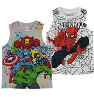 Boys Character Lightweight Sleeveless Casual Vest Top Sizes Age from 2 to 10 Yrs