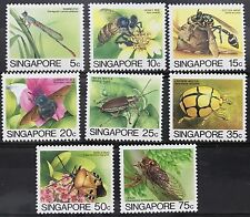Singapore stamps - 1985 insects Reprint Leigh Mardon 8v set RARE MNH