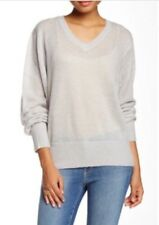 WILDFOX White Label Mohair Wool Gray $108 Pullover Tunic Slouchy Sweater Sz S